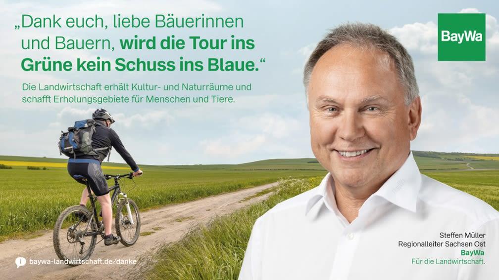 Steffen sagt DANKE: Die Landwirtschaft erhält Kultur- und Naturräume und schafft Erholungsgebiete für Mensch und Tiere.