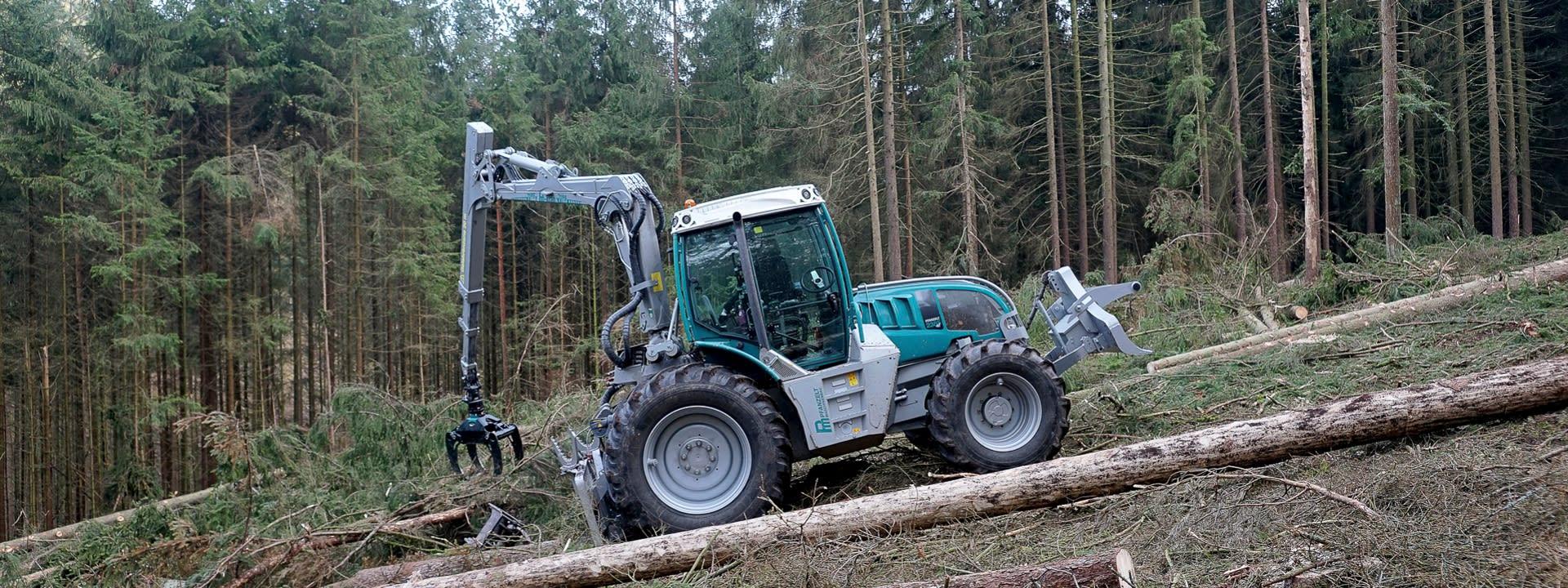 Pfanzelt Holzrückung