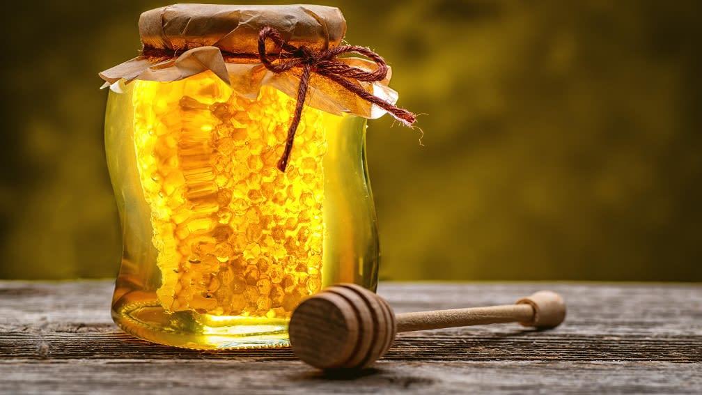 Honig im Bienenglas