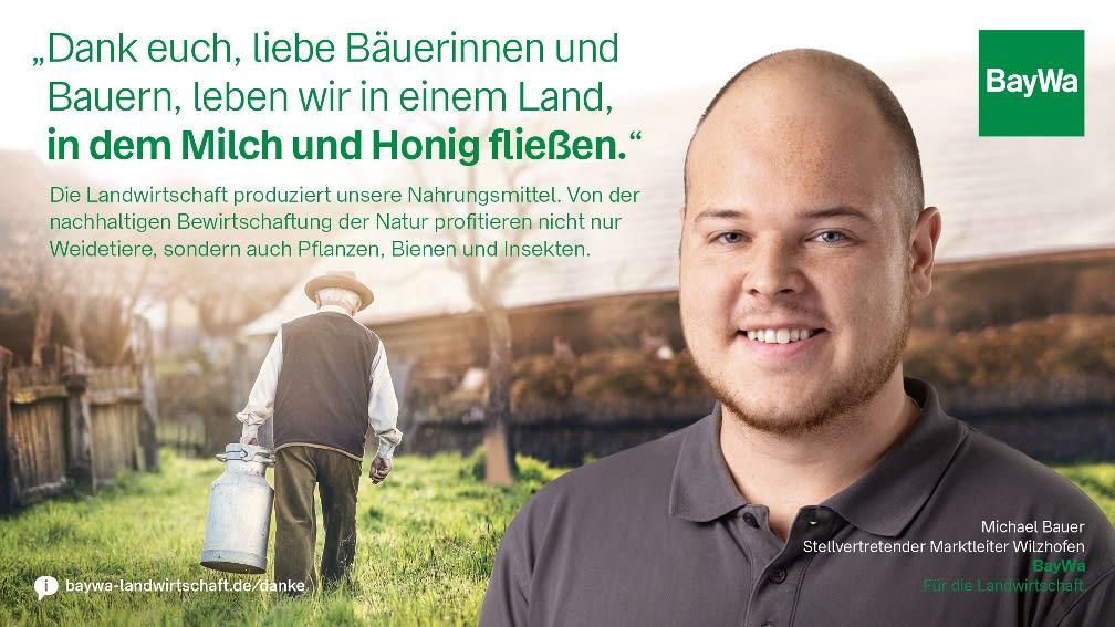 Michael sagt DANKE: Die Landwirtschaft produziert unsere Nahrungsmittel.