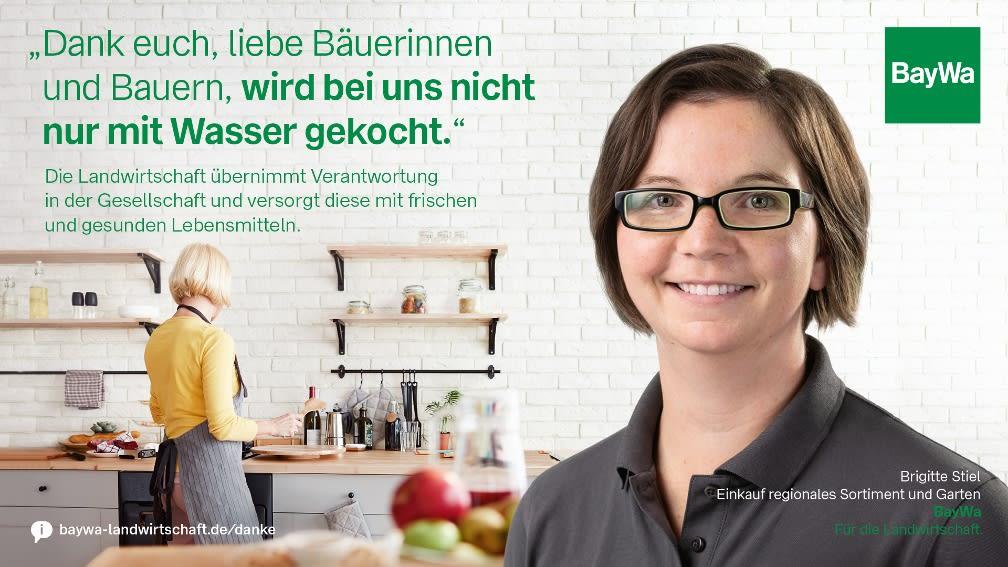 Brigitte sagt DANKE: Die Landwirtschaft versorgt die Gesellschaft mit frischem und gesundem Obst.