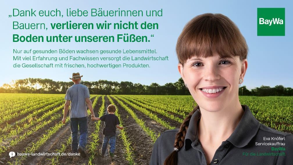 Eva sagt DANKE: Auf gesunden Böden wachsen gesunde Lebensmittel.
