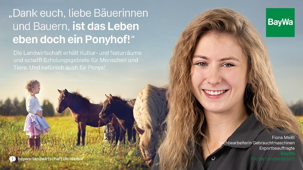 Fiona sagt DANKE: Die Landwirtschaft erhält Kultur- und Naturräume und schafft Erholungsgebiete für Menschen und Tiere.