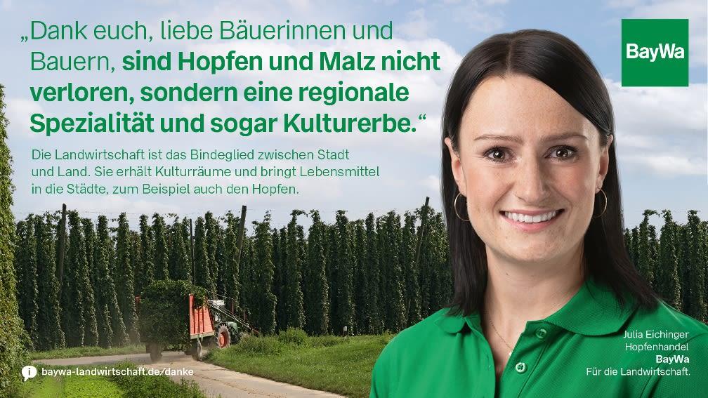 Julia sagt DANKE! Hopfen und Malz als regionale Spezialität und Kulturerbe.