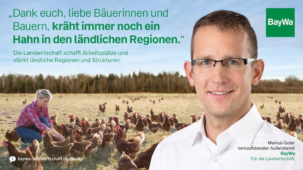 Markus sagt DANKE: Die Landwirtschaft schafft Arbeitsplätze und stärkt ländliche Regionen.