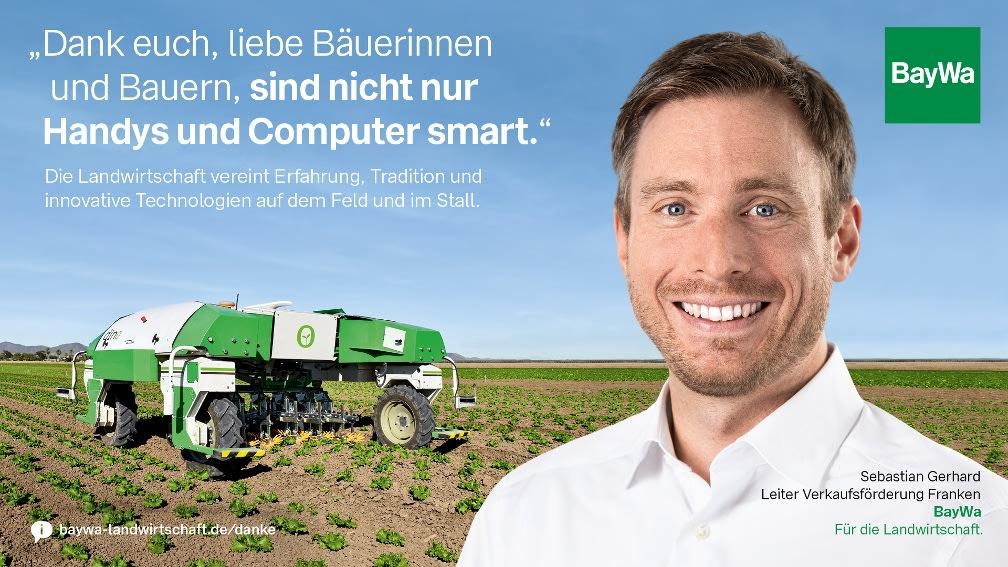 Sebastian sagt DANKE: Die Landwirtschaft vereint Erfahrung, Tradition und moderne Technologien.