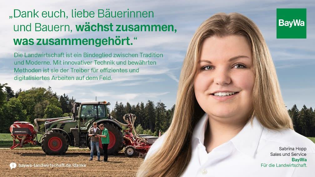 Sabrina sagt DANKE: Die Landwirtschaft ist Treiber für digitalisiertes Arbeiten auf dem Feld.