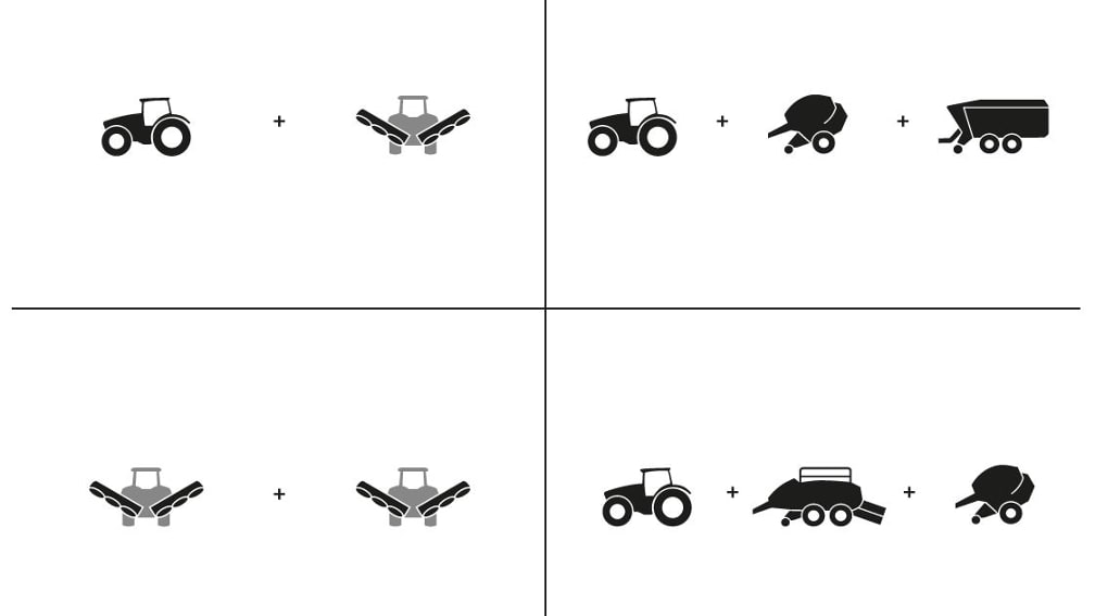 ausgenommen Traktor + Traktor