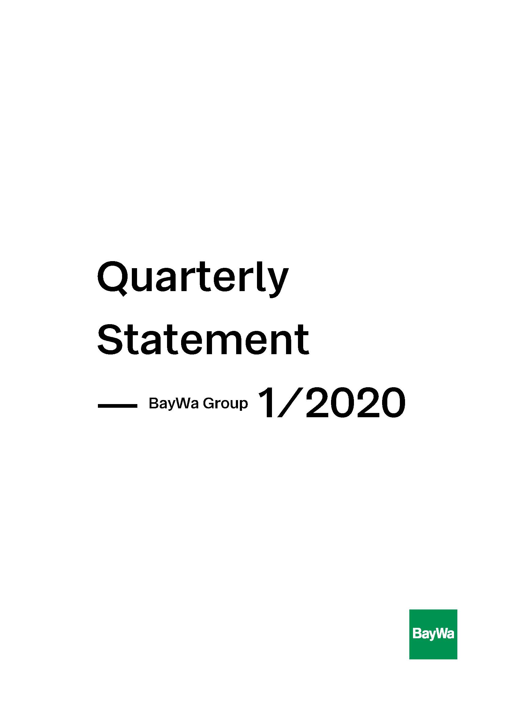 Interim Report Q1 2020