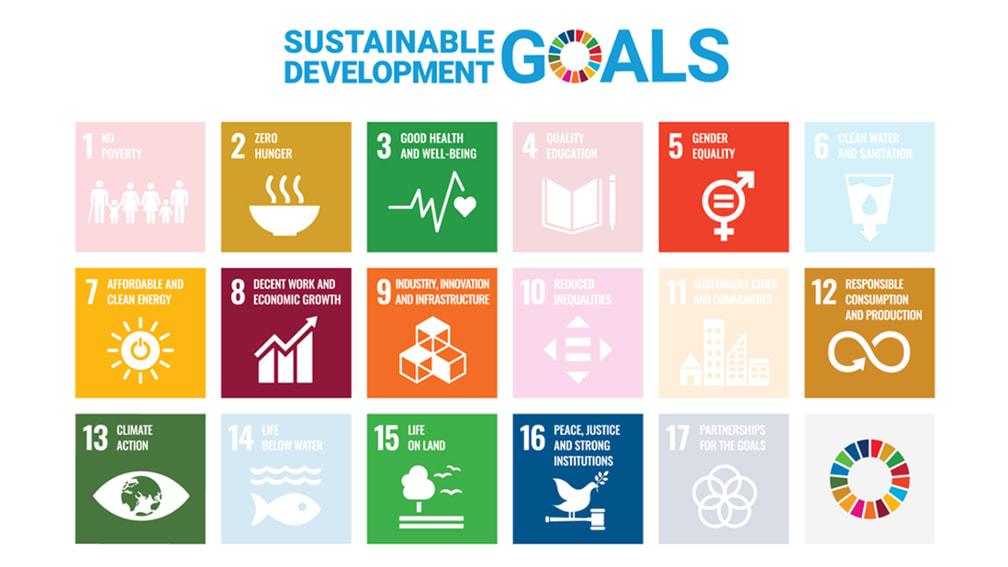 Bild zeigt die für die BayWa wesentlichen elf Ziele der siebzehn SDGs