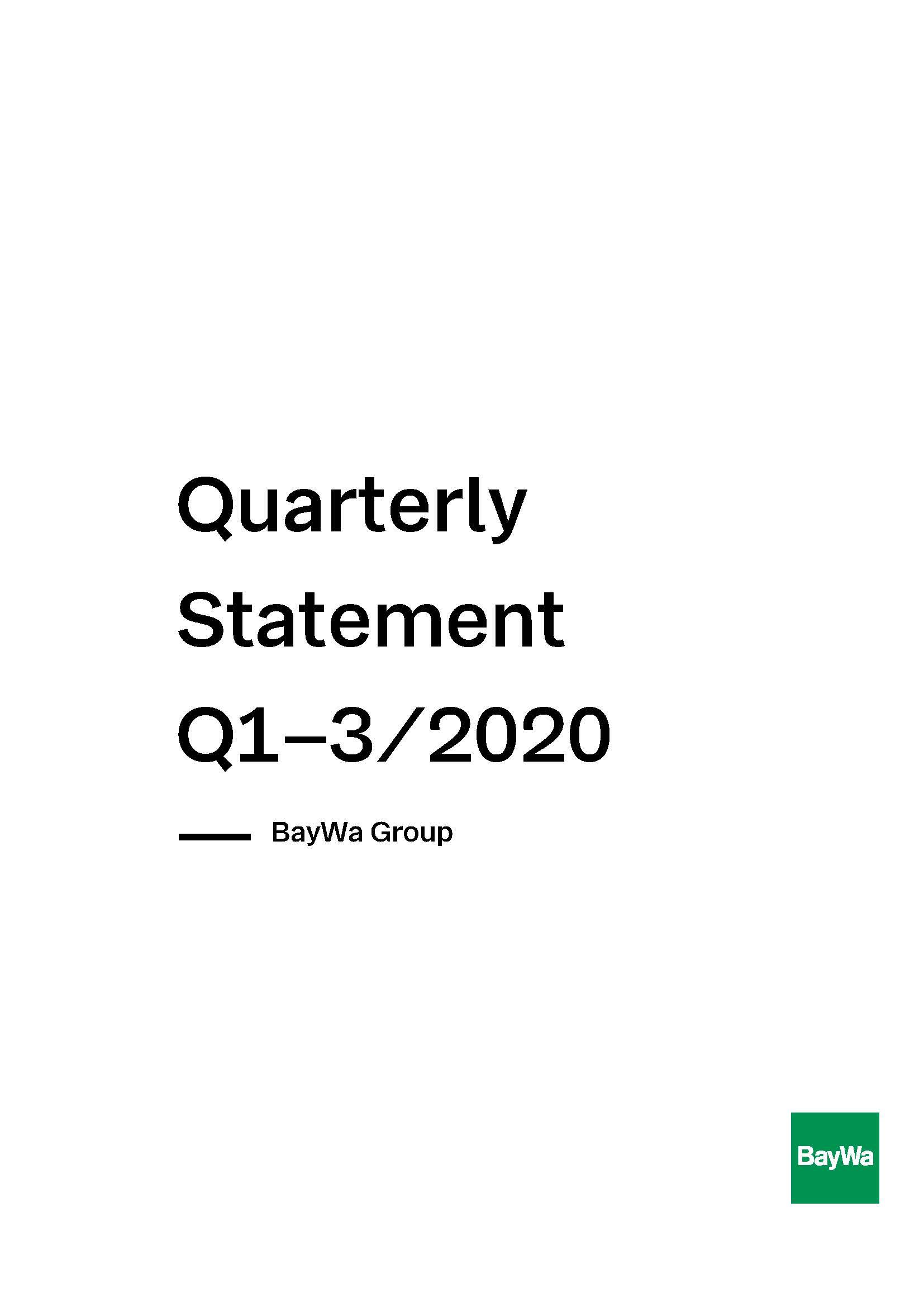 Interim Report Q3 2020