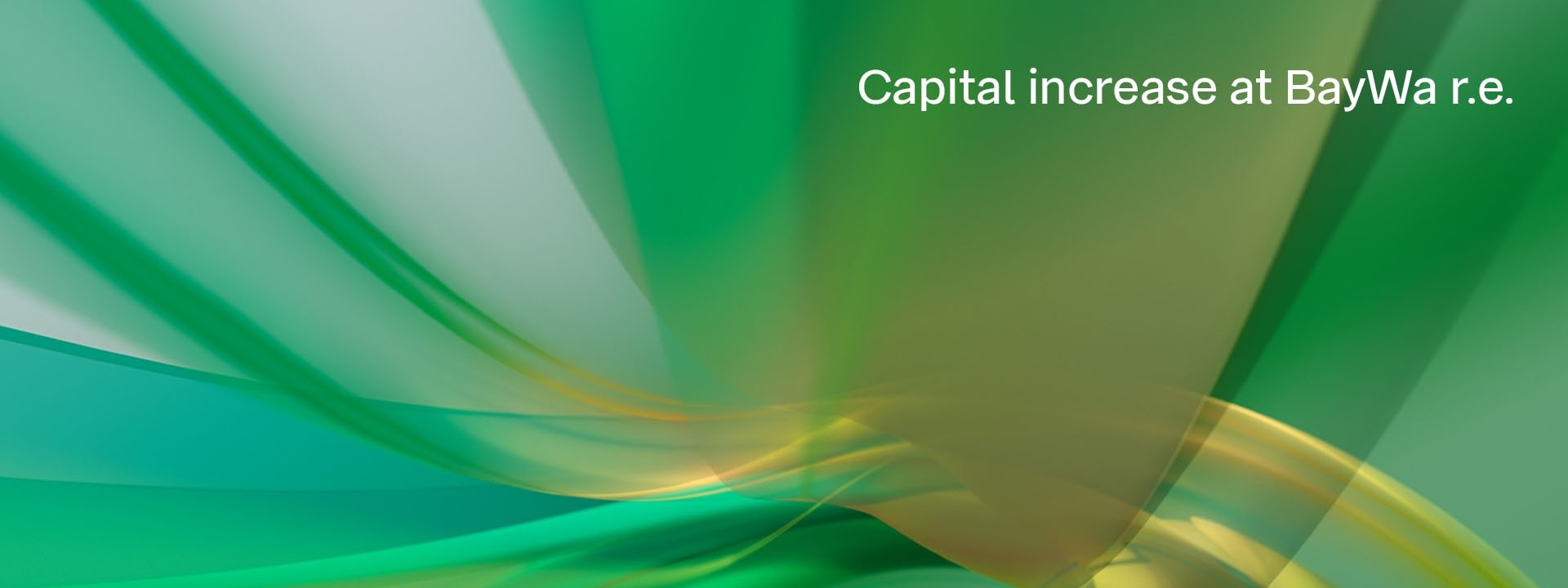 Graphic capital increase BayWa r.e.