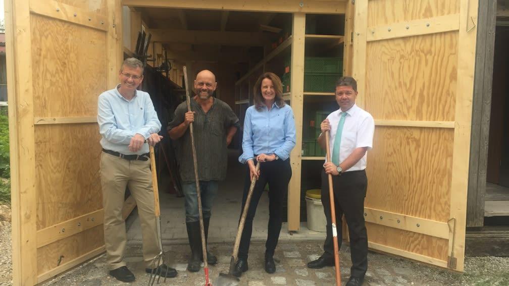 Ein neues Umwelthaus für den Obergrashof von der BayWa Stiftung.