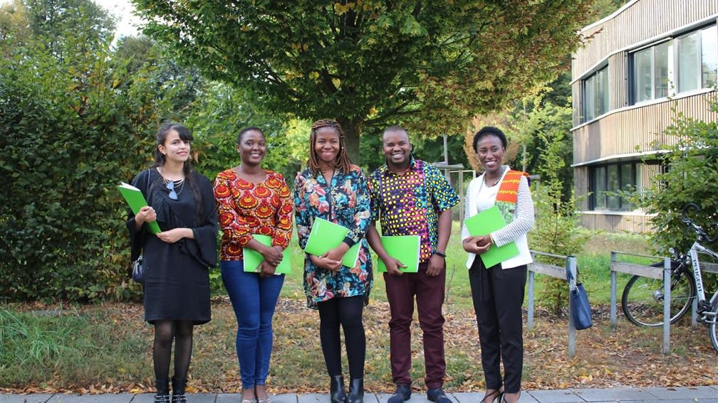 Convinced with their business idea for African agriculture: The winners 2019 received start-up capital from the BayWa Foundation for implementation.