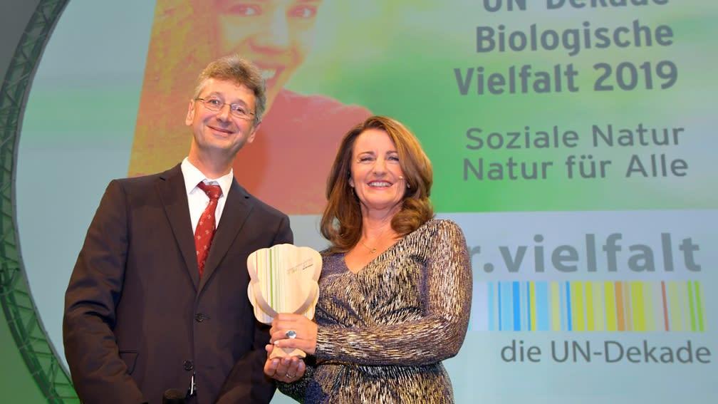 Auszeichnung des Waldschulprojekts mit der UN-Dekade Biologische Vielfalt