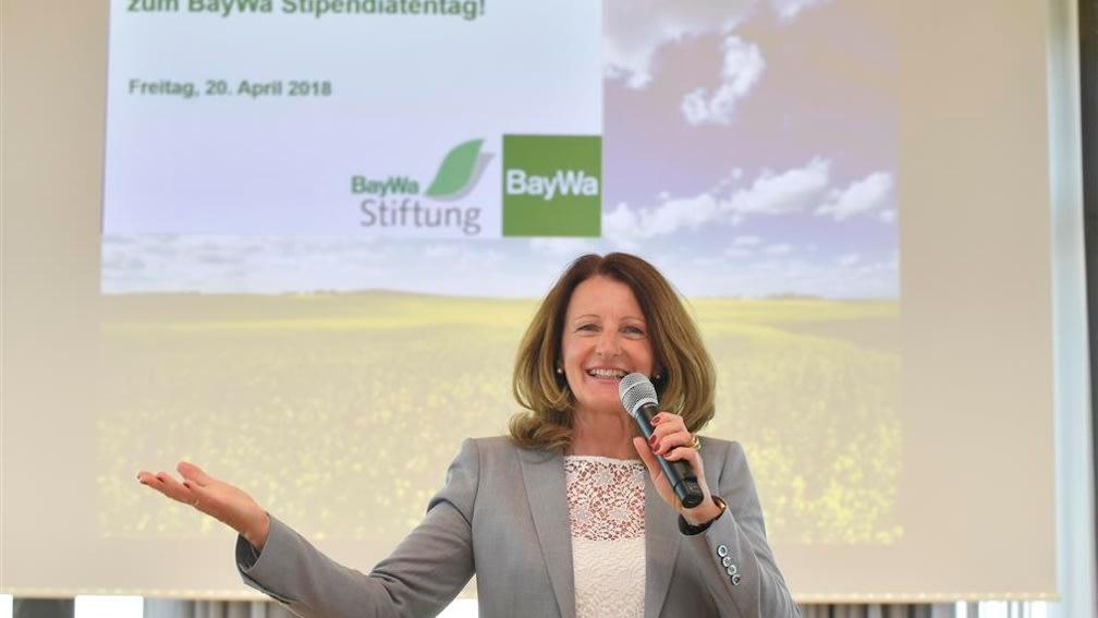 Maria Thon konnte sich am Stipendiatentag der BayWa Stiftung über zahlreiche Teilnehmer freuen.