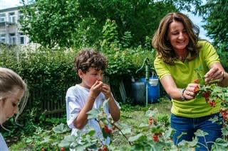 Building school gardens with the BayWa Foundation