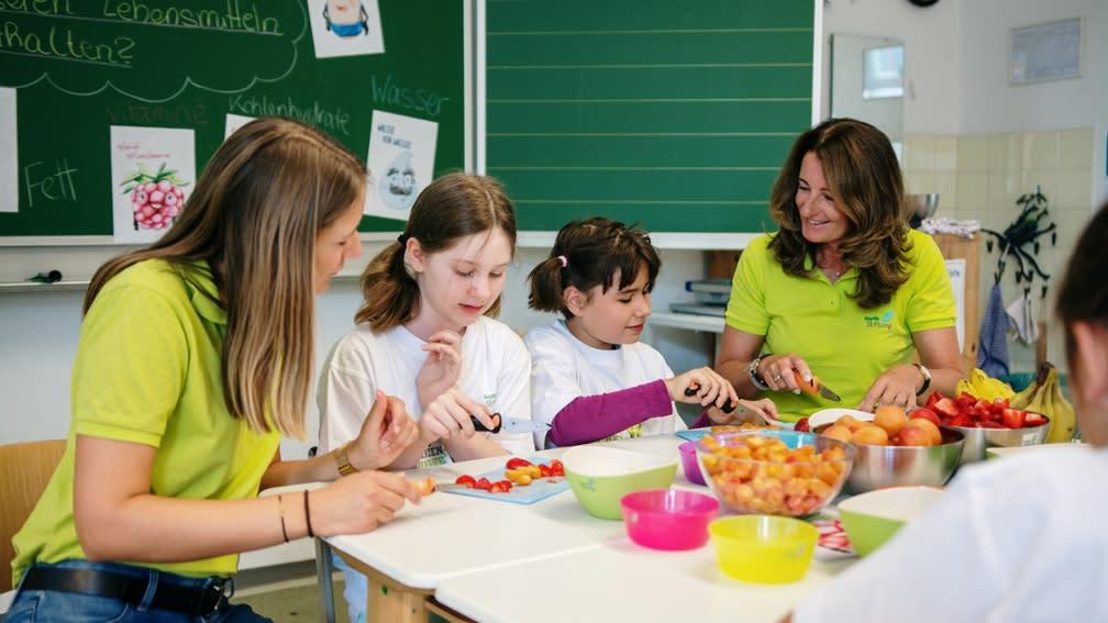 Mehr Ernährungswissen durch Projekt zur gesunden Ernährung der BayWa Stiftung.