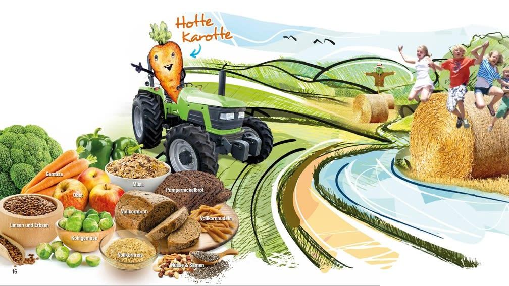 Hotte Karotte auf seinem Traktor