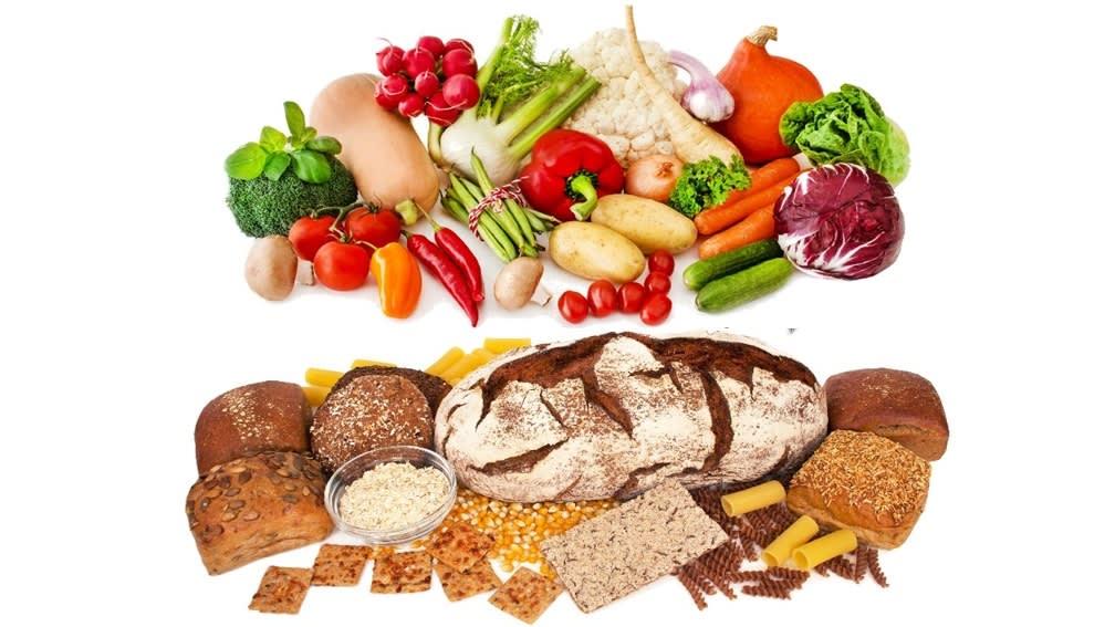 Getreide und Gemüse