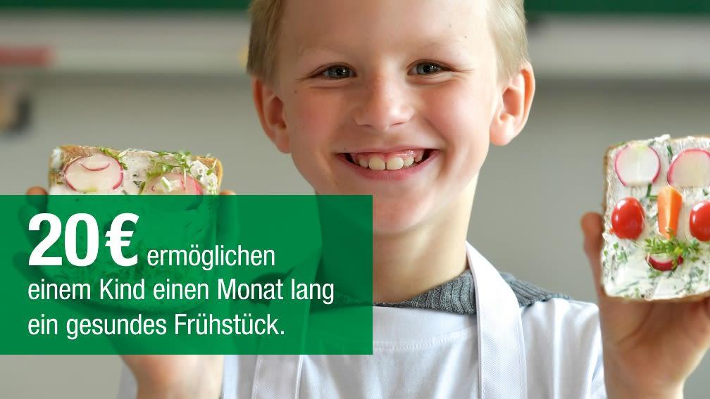 20 € ermöglichen einem Kind einen Monat lang ein gesundes Frühstück