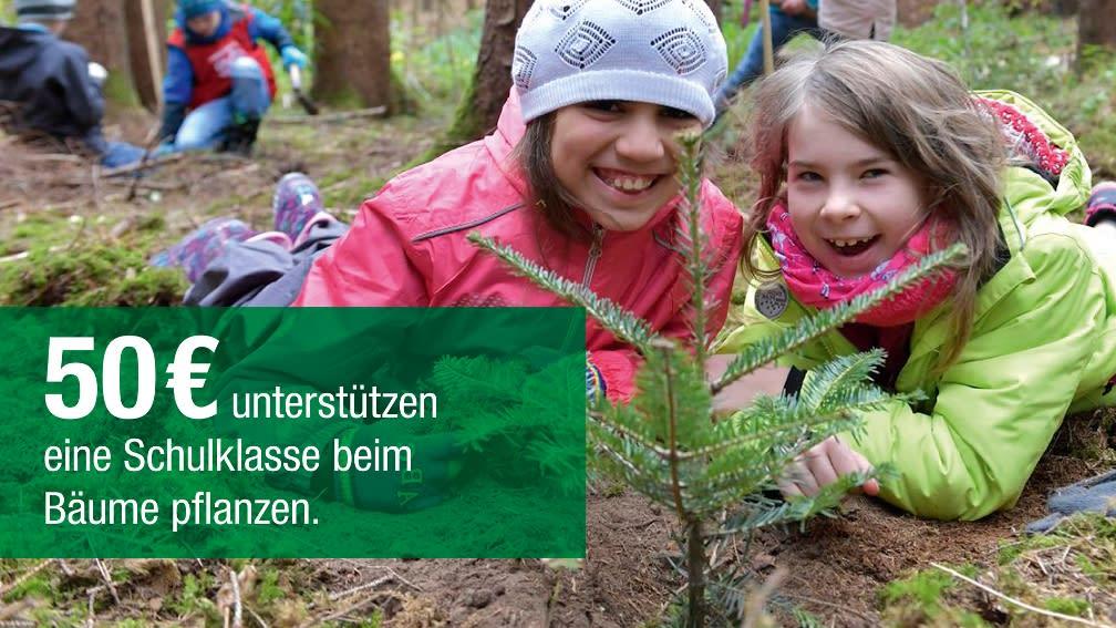 50 € unterstützen eine Schulklasse beim Bäumepflanzen
