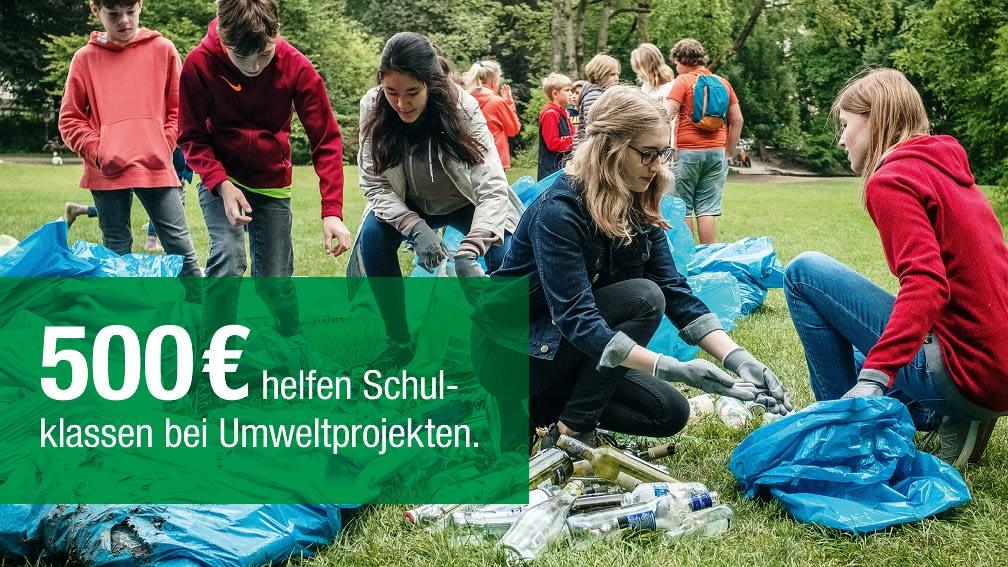500 € helfen Schulklassen bei Umweltprojekten