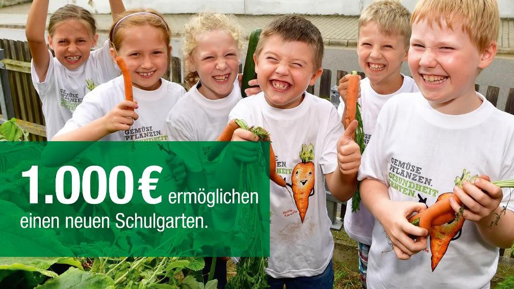 1.000 € ermöglichen einen neuen Schulgarten