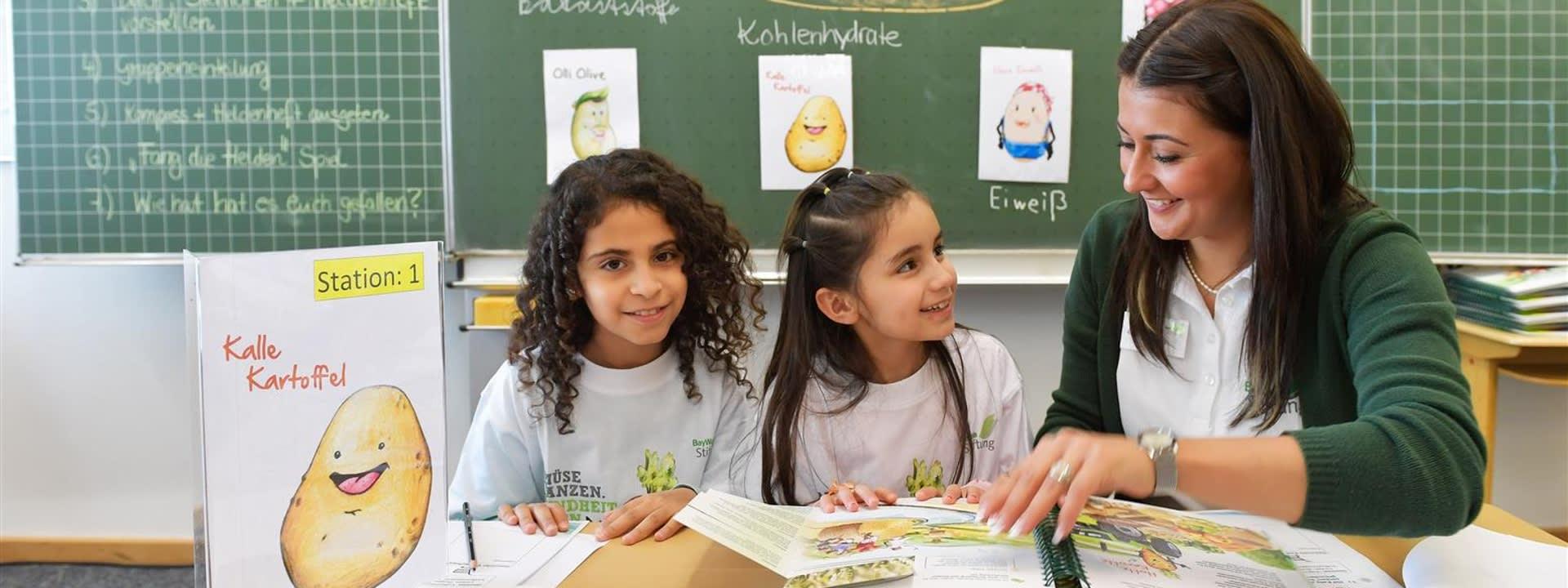 Die richtige Anwendung des Ernährungskompass im Unterricht durch Lehrerfortbildungen.