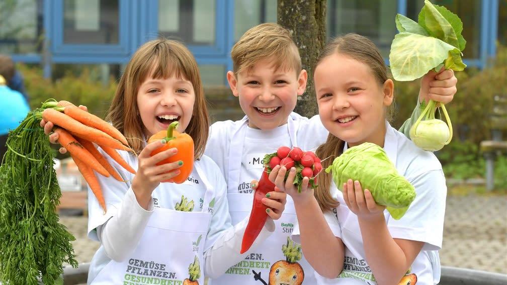 In unserem Projekten lernen Kinder, dass gesunde Ernährung toll ist und Spaß macht!
