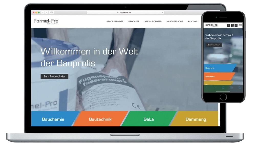 Formel-Pro neue Homepage