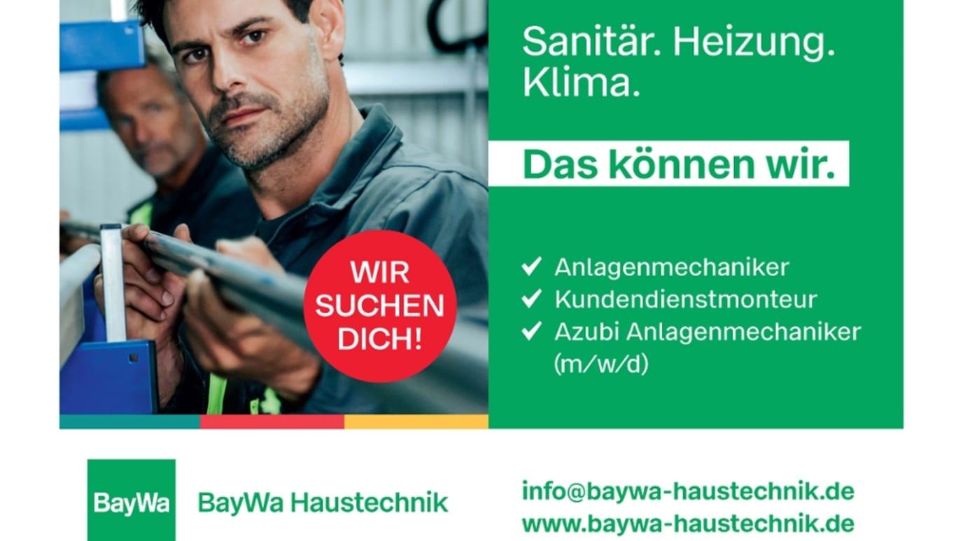 Kampagnenbild zeigt Mann bei der Arbeit.