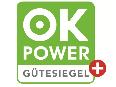 ok-power-plus Gütesiegel