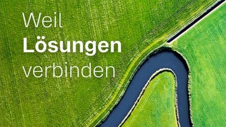 """Cover der Unternehmensbroschüre """"Weil Lösungen verbinden"""""""