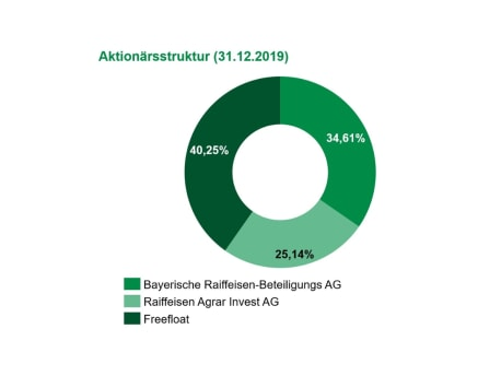 Aktionärsstruktur zum 31.12.2019