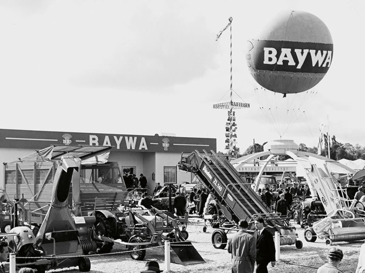 A BayWa site in the 1950s