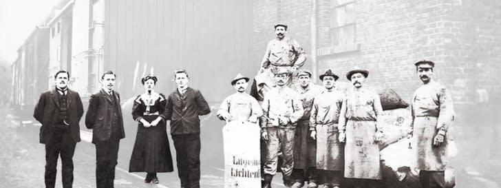 Gründungsmitglieder der BayWa auf einem Gruppenbild