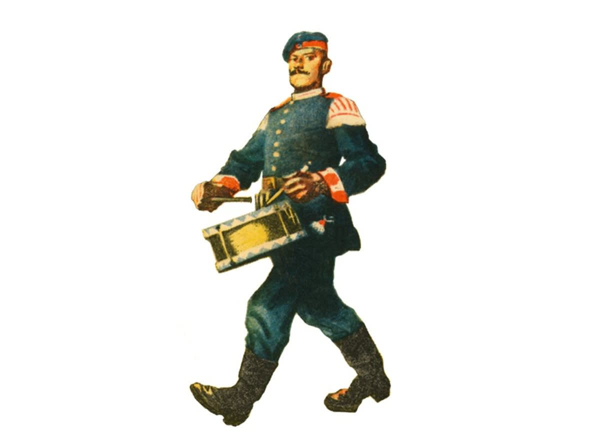 Motif drummer from an old advertising sign