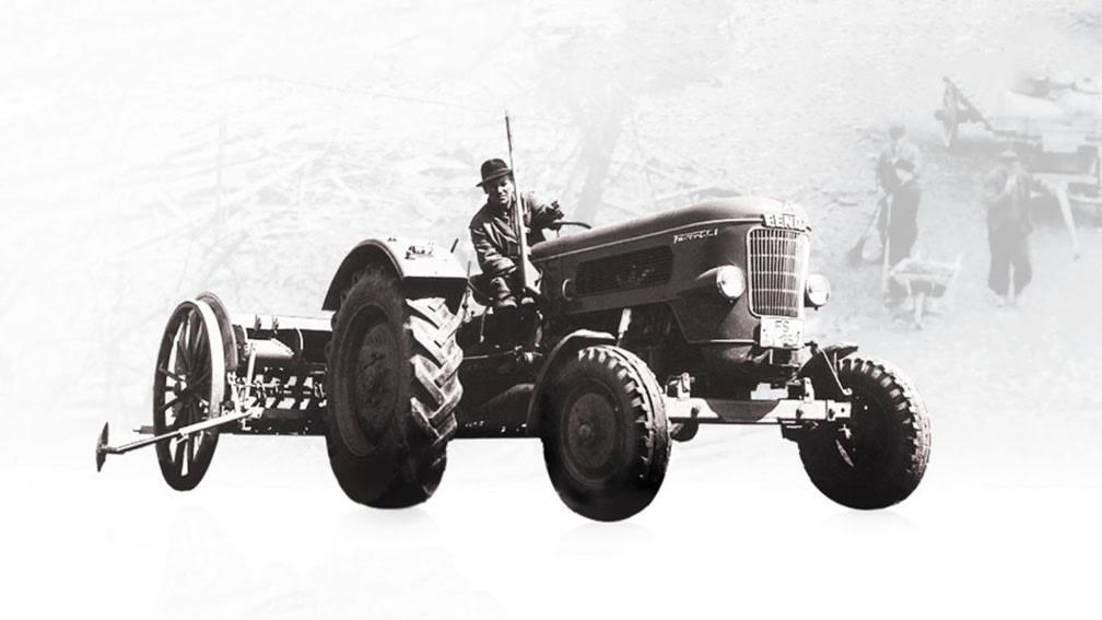 Traktor - historische Aufnahme