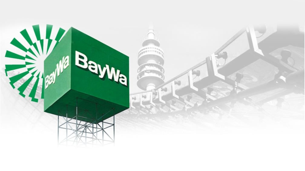 BayWa Logo as a cube