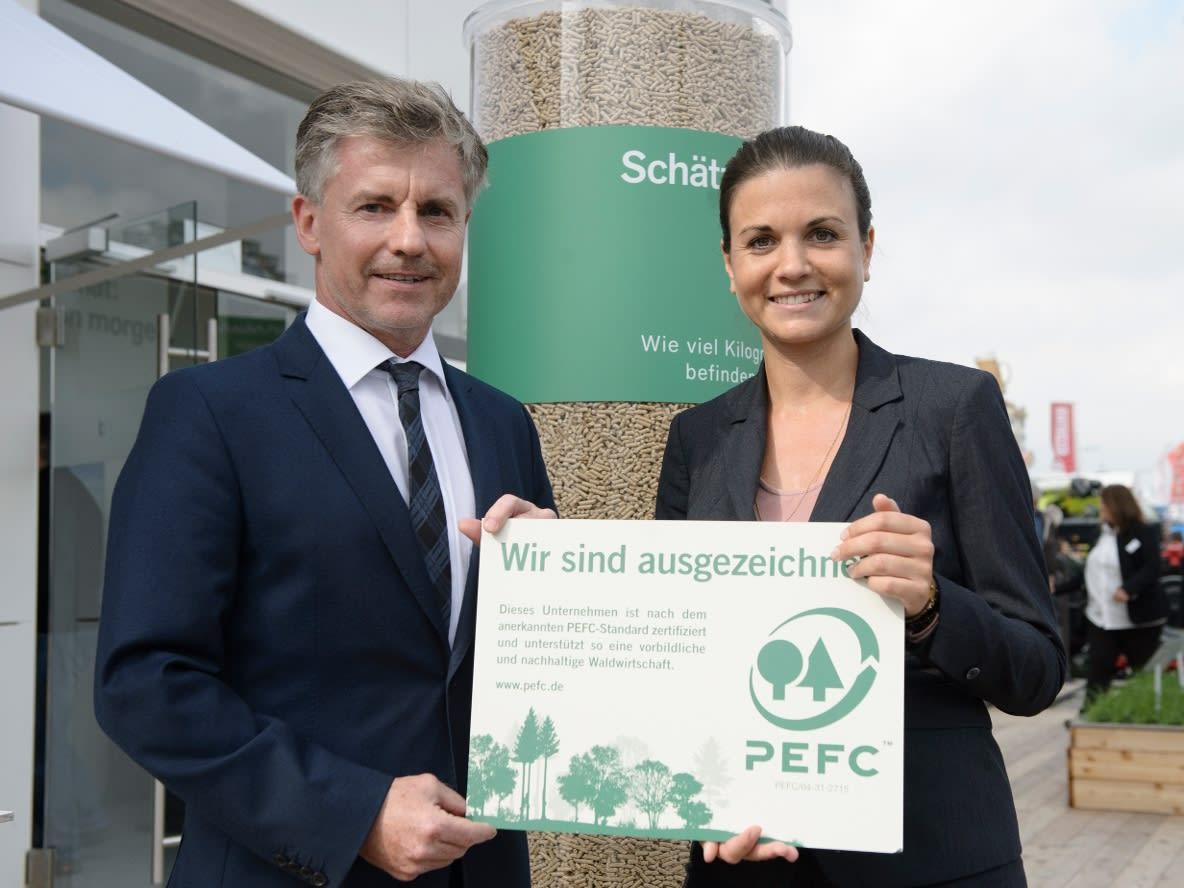 Nachhaltigkeitszertifikat für BayWa Holzpellets