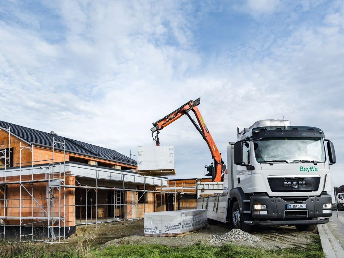 Baustelle und LKW