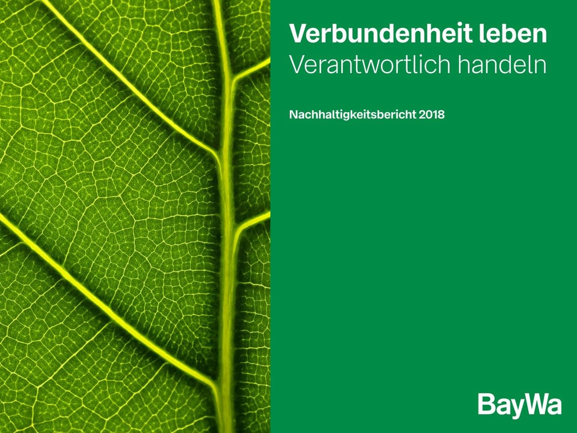 Cover Sustainability Report BayWa 2018