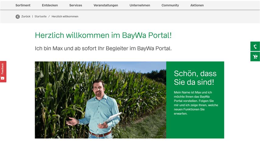 Screenshot BayWa Portal