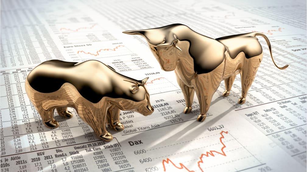 Symbolischer Aktienkurs