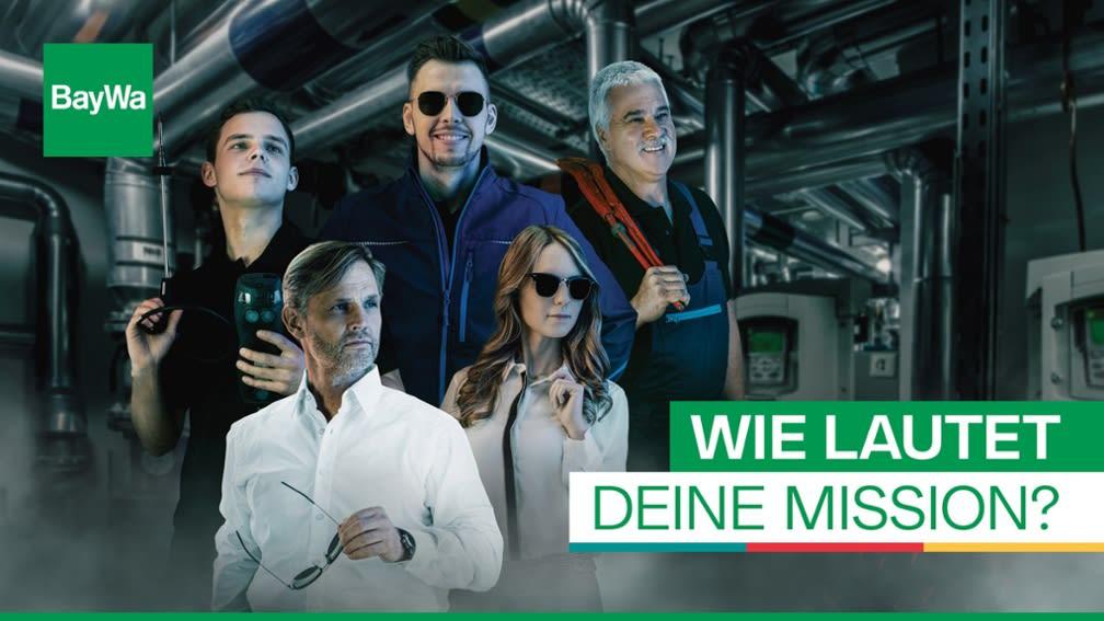 Kampagnenplakat mit 5 Personen.
