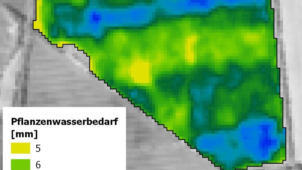 Applikationskarte eines Feldes