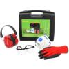 PSA-Set im Koffer mit Gehörschutz, Schutzbrille, Handschuhen und Atemschutzmaske