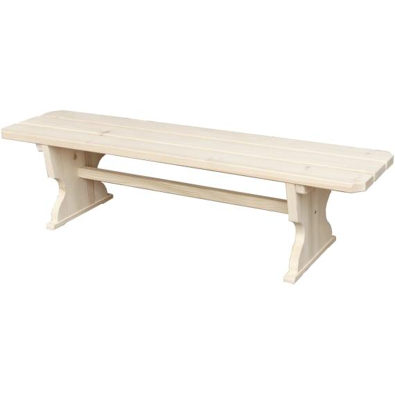 Braun Sitzbank Ohne Rückenlehne Fichten Tannenholz Gartenmöbel
