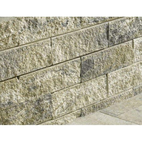 Hangabstützung casafino bruchsteinmauer muschelkalk nuanciert halbendelement 15 x